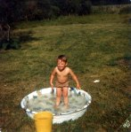 David standing in pool
